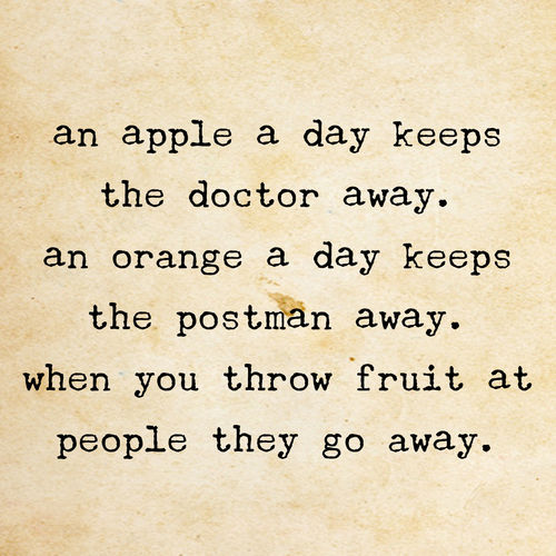 throw fruit at people