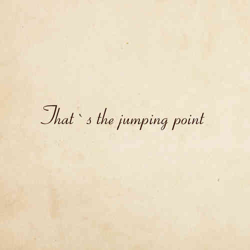 the jumping point