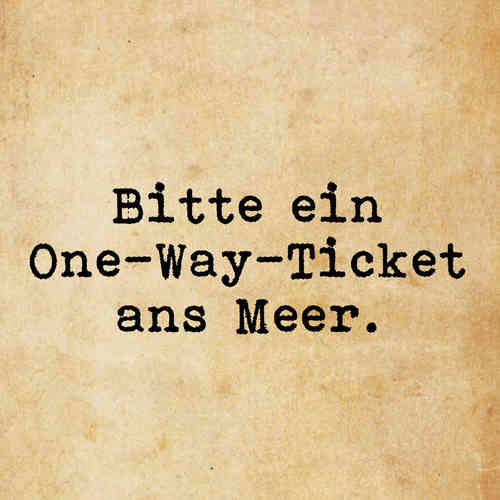 One-Way-Ticket